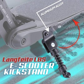 LANGFEITE L8S ELECTRIC SCOOTER KICKSTAND ALUMINIUM ALLOY 250MM PARKING STAND FOR HOVERBOARD SIDE KICK STAND FOOT SUPPORT SCOOTER ACCESSORIES