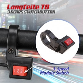 LANGFEITE T8 ELECTRIC ROLLER SCOOTER THREE SPEED ROCKER SWITCH 3 GEARS SWITCH BUTTON E BIKE SCOOTER HANDLEBAR MOUNTED UNIVERSAL E BIKE ACCESSORY