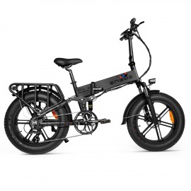 ENGWE ENGINE PRO 750W HIGH PERFORMANCE Folding Fat Tire Electric Bike with 12.8Ah Battery and Hydraulic Suspension 48V 20*4 City Mountain E BIKE